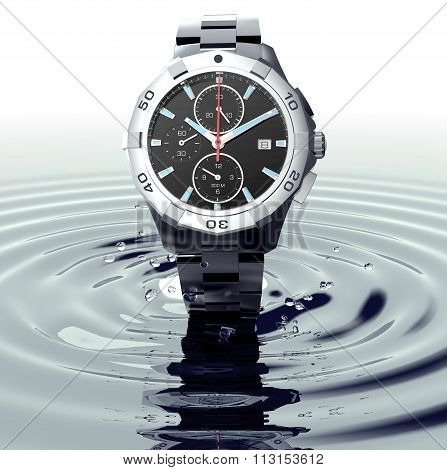 Beautifull Watch Standing On Water