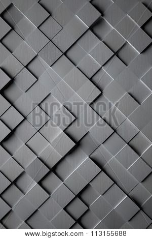 Aluminum Cubic Tile Background