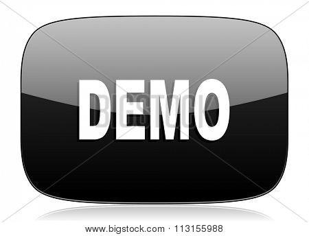demo black glossy web modern icon