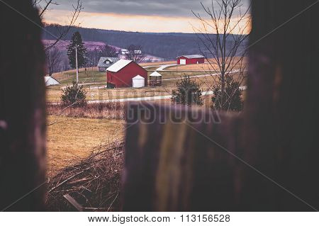 Farm Landscape Winter Pennsylvania