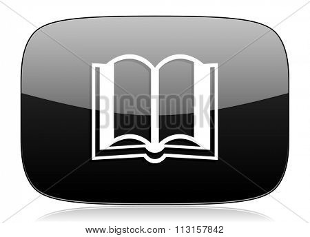 book black glossy web modern icon
