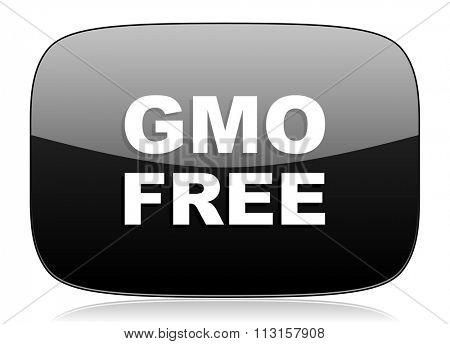 gmo free black glossy web modern icon