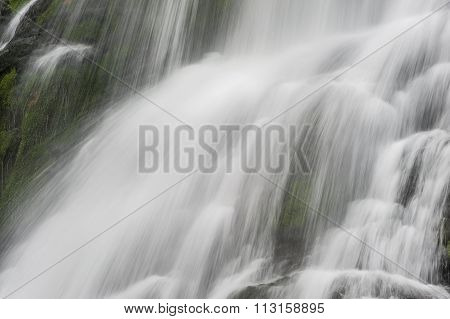 Nature Background With Waterfall