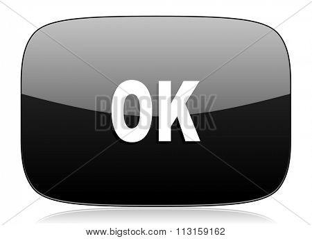 ok black glossy web modern icon
