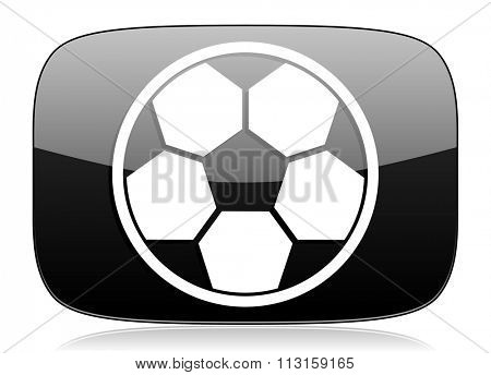 soccer black glossy web modern icon