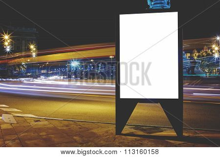 information board with shutter speed on background, advertising mock up