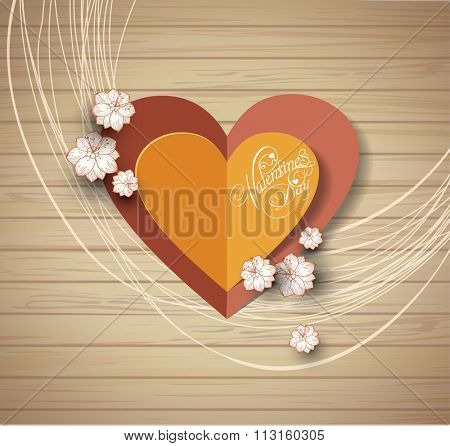 valentine's day background. Greeting Card. Invitation card for wedding