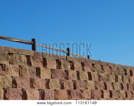 Hand Laid Stone Wall