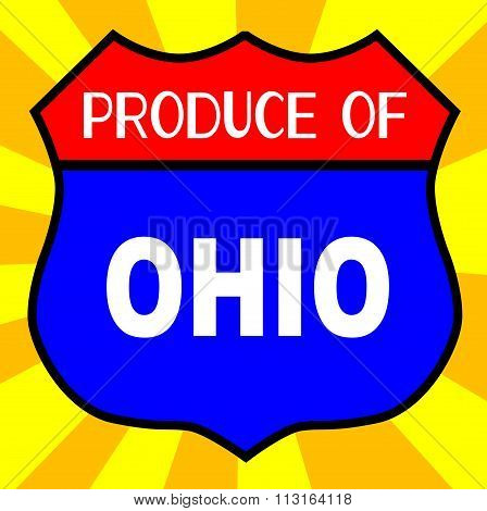 Produce Of Ohio Shield