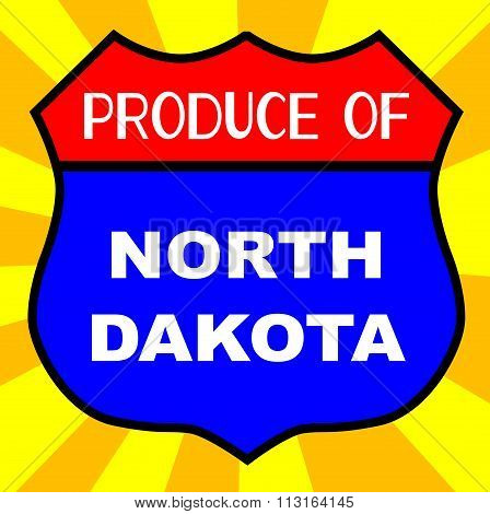 Produce Of North Dakota Shield