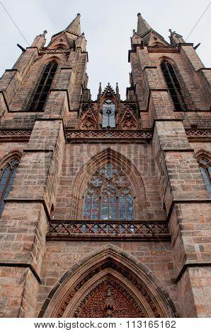 Gothic St. Elizabeth's Church In Marburg. Vertical