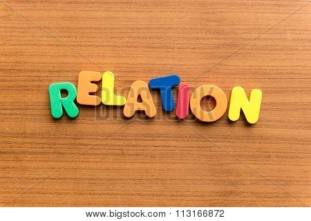 Relation Colorful Word