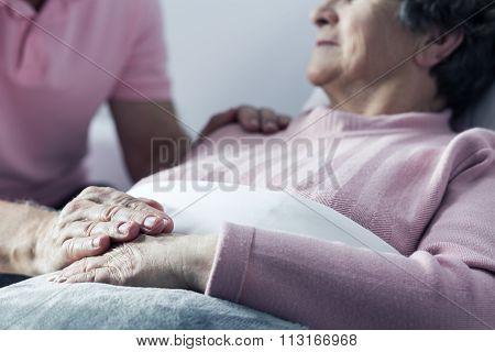 Marital Love Between Senior Couple