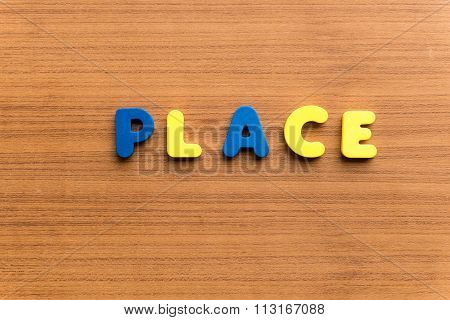 Place Colorful Word