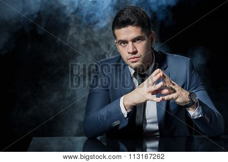 Manager With Confident Hand Gesture