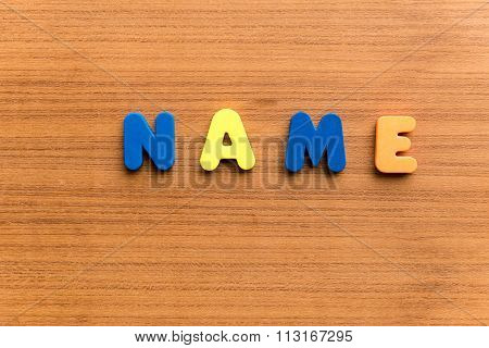 Name  Colorful Word