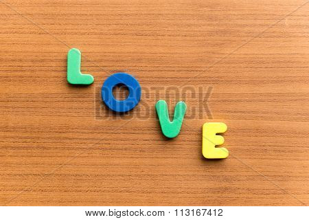 Love  Colorful Word