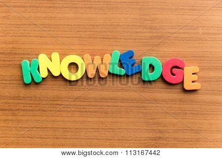 Knowledge  Colorful Word