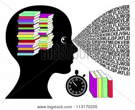 Speed Reading Woman