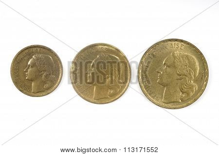 French Currency Of The Twentieth Century, 10, 30 And 50Cents