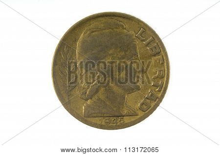 Old Coin Of Argentina 1945