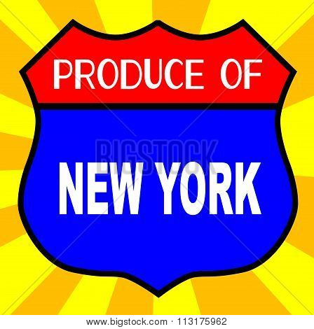Produce Of New York Shield