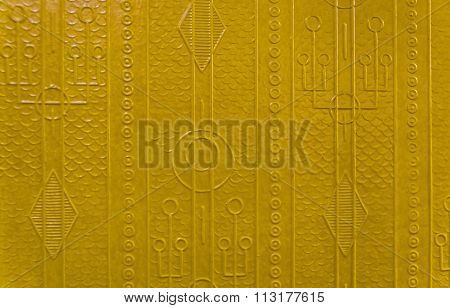 The Pattern On The Wall Of An Old Wagon Of The Moscow Metro.