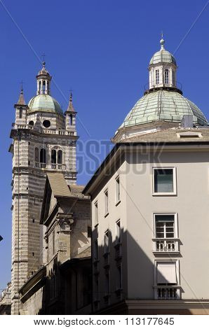 Genoa Cathedral Of San Lorenzo - Italy