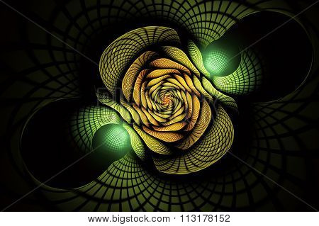 abstract fractal background, texture, spiral