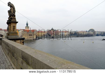 View Of National Theatre From Charles Bridge