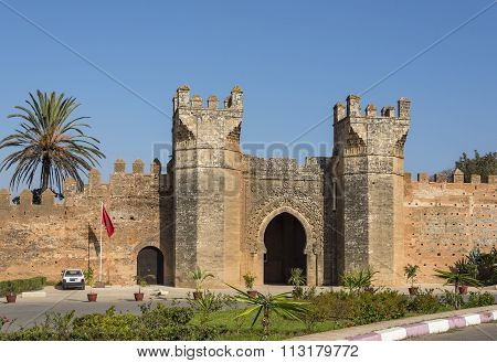 Main Gate Of Chellah Necropolis. Rabat. Morocco.