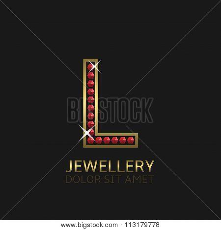 Golden Letter L