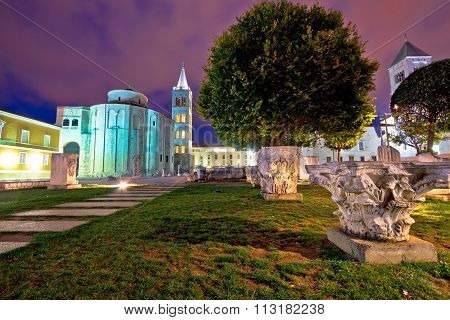 Zadar Historic Square Evening View