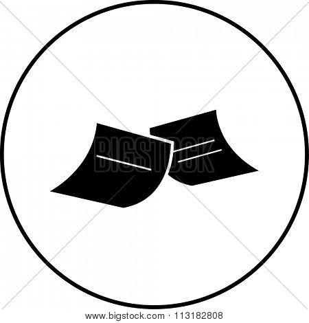 sticky notes symbol