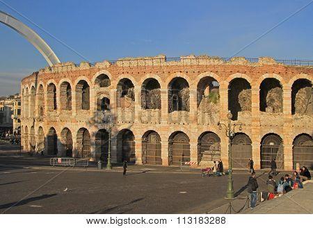 ancient roman amphitheatre in Verona