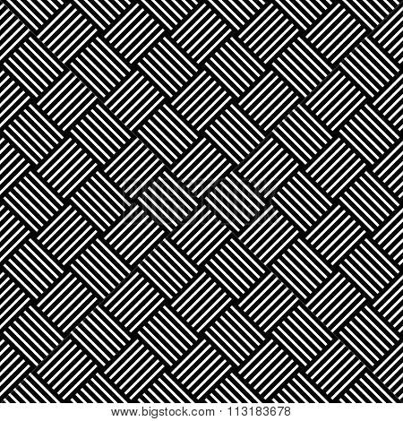 Seamless checked pattern. Geometric texture. Vector art.