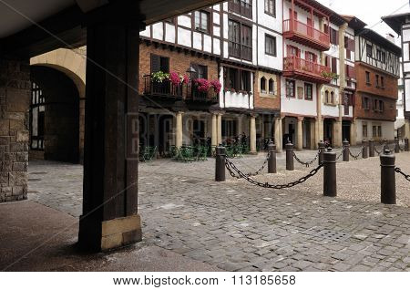 Main Square, Hondarribia, Basque Country, Spain
