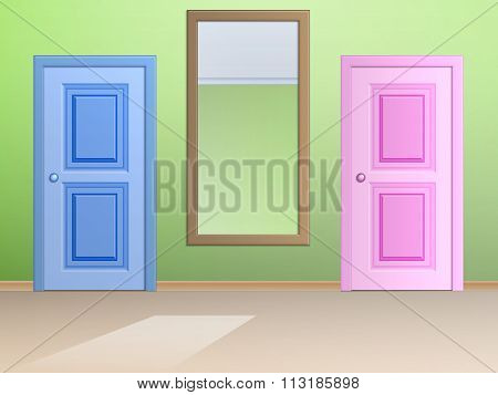 The Mirror And Door