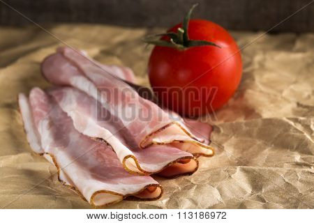 Appetizing Bacon On Paper