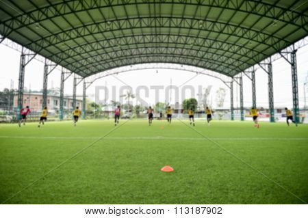 Blurry,motion Blur.players Playing Football ,test Fitness(soccer)
