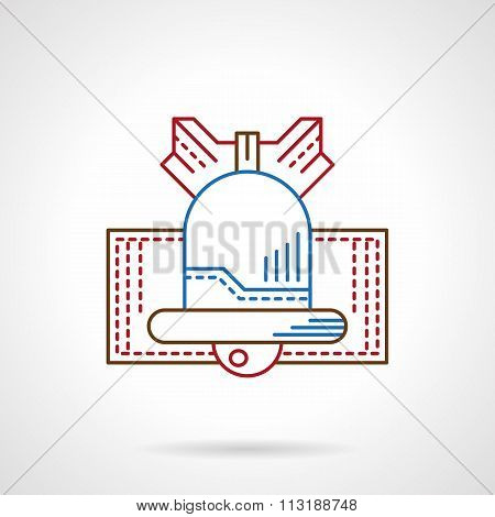 Stylish thin color line bell vector icon