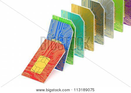 Set Of  Sim Cards