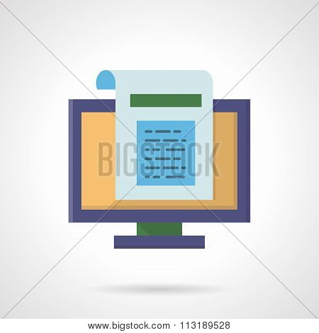 Web page abstract flat color vector icon