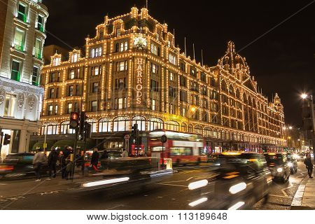 Harrods In Knightsbridge At Christmas