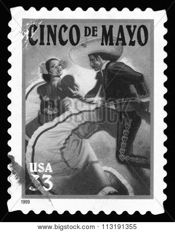 Cinco De Mayo, USA postage stamp