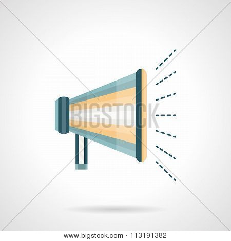 Promotion megaphone flat color vector icon