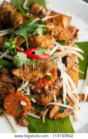 Radish Cake Thai Food Dish