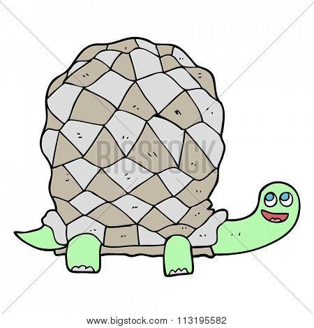freehand drawn cartoon tortoise