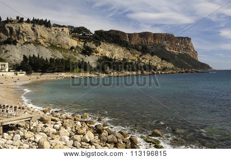 Beach Of Cassis, French Riviera, France