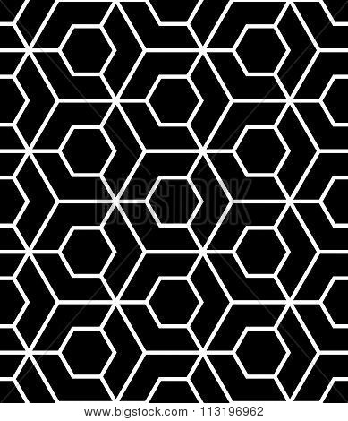 Vector modern seamless sacred geometry pattern black and white abstract